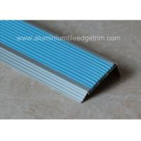 Quality Non Slip Aluminum Stair Nosing , Metal Stair Nose TrimWith Insert PVC Rubber wholesale