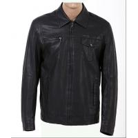 Quality Customized Black Mens Western, Classic, Plus Size Motorcycle Fleece Lined Leather Jacket wholesale