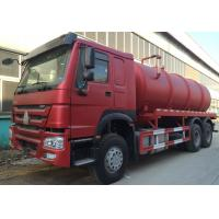 Quality Transporting Sewage Septic Tank Cleaning Truck / Septic Pumping Truck 17CBM LHD 336HP wholesale