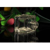 Quality Classic Square Empty Small Glass Perfume Bottles With Screw Top , 50ml Volume wholesale