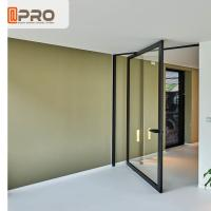 Quality Double Tempered Glazed Middle Swing Pivot Door / Thermal Break Aluminum Profile Doors wholesale