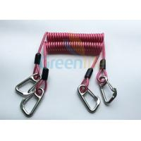 Quality High Strength Strong Coil Tool Lanyard Transparent Red PU Material Cover wholesale