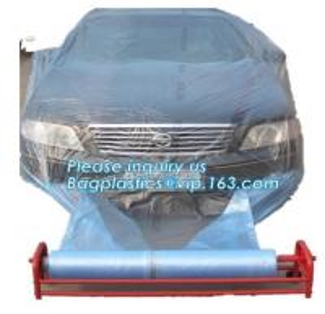 Quality auto polyurethane masking plastic for painting 4*300m, 3m plastic auto paint masking protection film for cars, bagplasti wholesale