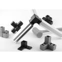Rectangle Square Tube Aluminium Shelf Brackets for sale