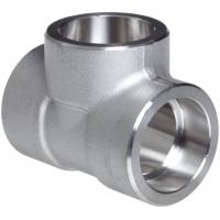 China Forged Alloy Steel Fittings , Stainless Steel Equal Tee A-182 / A105,Socketweld & Threaded on sale