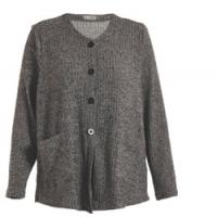Quality Button Closure Grey Color Womens Knit Cardigan , Regular Ladies Autumn Cardigans wholesale