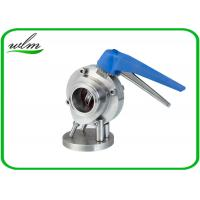 Quality Leakage Proof Sanitary Butterfly Valve Manual Or Pneumatic Type , Corrosion Resistance wholesale