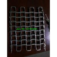 """Cheap SS304 Flat Wire Conveyor Belt, 1""""×1""""  Hole, 1.5mm × 12.7mm Strips, Firm Structure/High Corrosion Resistence for sale"""