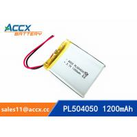 Quality 504050 pl504050 3.7v 1200mah lipo battery li-polymer rechargeable li-ion batteria wholesale