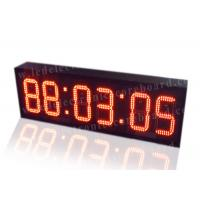 Quality Super Brightness Red Digital Clock , Digital Time Clock For Train Station wholesale
