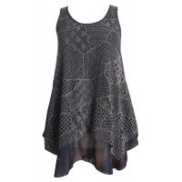 China Cut Loose Sleeveless Lace Chiffon Top Casual Ladies Clothing for Spring , Autunm on sale