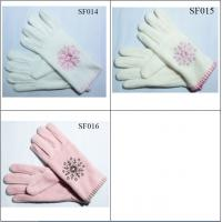 Buy cheap girls' fleece gloves SF014-SF016 high quality and good price children gloves from wholesalers