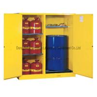 Quality Metal Two Doors Dangerous Goods Cabinets Acid Alkali Resistant Double Wall Structure wholesale