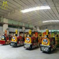 Quality Hansel stock amusement park rides trackless battery operated train rides factory wholesale