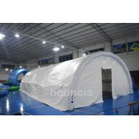 Quality Durable White Outdoor Airtight Tent / Inflatable Event Tent With 0.9mm PVC Tarpaulin wholesale