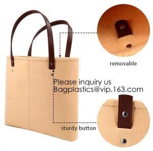China Handmade Fashion felt shoulder Case Ladies Bag Women Handbag Felt Tote Bag with Leather Handle, Bagease, Bagplastics on sale