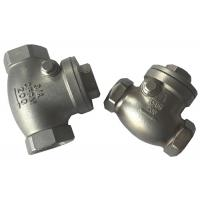Quality Screwed SS316 and SS304 Check Valve , Cast Steel Swing Check Valve wholesale