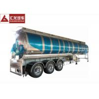 Quality 3 Axle 42000 L Fuel Transfer Tank Trailer / Tanker Trailer Large Carrying Capacity wholesale