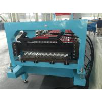 Quality Aluminium Corrugated Profile Roofing Sheet Roll Forming Machine Auto PLC Frequency Control wholesale