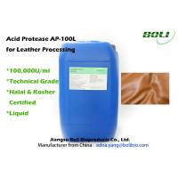 Quality High Concentration Acid Protease For Leather Processing , High Efficient Enzymes In Textile Industry wholesale
