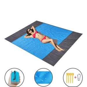 Quality Reversible Oversized Sand Proof Beach Mat For 4 9 Adults Traveling wholesale