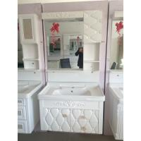 Quality Rectangle Single Bowl Bathroom Vanity Cabinets Matrix For Embossing Hung wholesale