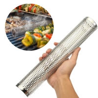 China Perforated Grill 122g Net Thin Blue Smoker Tube Pipe 2.7mm Bore on sale