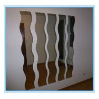 Quality Finish Aluminum Sheet Colored Mirror Glass panel , mirror safety glass wholesale