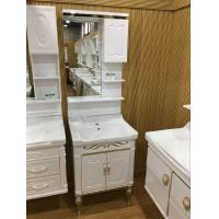 Quality 60cm Wall PVC Bathroom Cabinet / Single Bowl Bathroom Vanities With Mirror wholesale