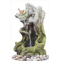 Quality Old Wooden Stake Decorative Outdoor Tiered Water Fountains In Cement Material wholesale
