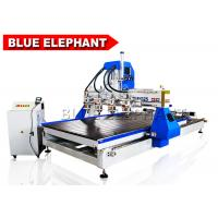 Quality 1325 Multi Spindles Multifunction Automtaic 3D Wood Carving Machine Cnc Router 5D with 4 Rotary Devices wholesale