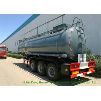 Quality Heavy Duty Chemical Tank Trailers For 30 - 45MT Sodium Hydroxide Transportation wholesale