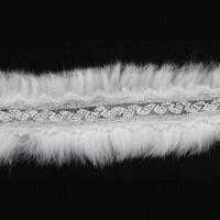 China Fur Lace Trim, Made of Glass Beads, Bugles, Voile, Suitable for Garment Use, Small Orders Accepted on sale