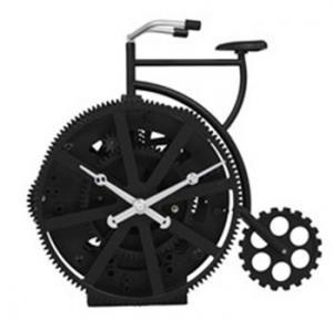 New Black Bicycle Gear Table Clock , ABS Quartz Movemen Art Clock