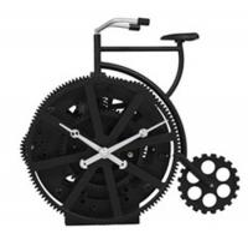 Cheap New Black Bicycle Gear Table Clock , ABS Quartz Movemen Art Clock for sale