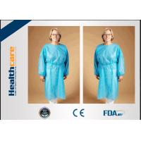 Quality Safety Disposable Surgical Gowns / Medical Isolation Gowns Free Sample 35/40/45Gsm wholesale
