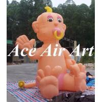 Quality giant cute advertising inflatable baby with pacifier character in promotion wholesale