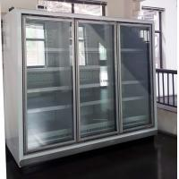 Buy cheap Vertical LED Lighting Upright Glass Door Freezer With Multi Deck Shelving from wholesalers