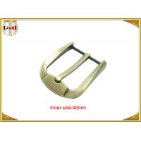 Quality Fashion Gold Zinc Alloy Pin Belt Buckle For Man / Boy 40mm Customized wholesale