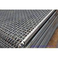 Hooked Vibrating Sieve Screen Mesh SUS304 Crimped Customized For Mining / Quarry