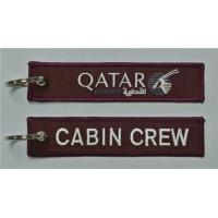 Buy cheap Cabin Crew Qatar Fabric Key Chain Luggage Tag Embroidery Keychain from wholesalers