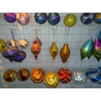 Quality Personalised Christmas Decoration of Colorful Tinsel Sparkling Balls Ornaments wholesale
