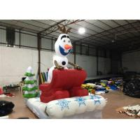 China Outdoor Blow Up Christmas Decorations , Commercial Activities Merry Christmas Inflatable on sale