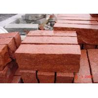 Quality Red Natural Paving Stones Tile For Stair Steps / Countertop Granite Material wholesale