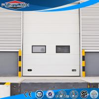 Quality Automatic Lifting  Insulated High Strong Wind Resistant PU Sandwich Panel Sectional Overhead Industrial Door wholesale