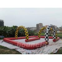 Quality Durable 0.55mm PVC Tarpaulin Inflatable Zorb Ball Trace For Commercial Use wholesale