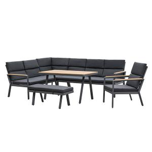 Quality 760mm Depth 1970mm Breadth Rattan Garden Furniture Sets Grey Color wholesale
