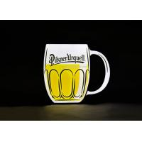 Buy cheap Wall Mounted Customized Design Beer Mug Shape UV Printing Lighting Acrylic from wholesalers
