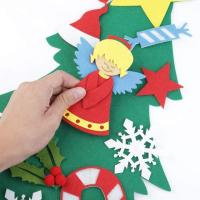 Quality Wall Hanging Felt Christmas Tree Decoration , DIY Christmas Tree Sets With Ornaments wholesale
