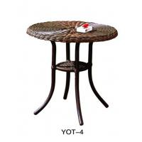 China Cast aluminum outdoor dining set modern Glass Furniture Popular   (YOT-4) on sale